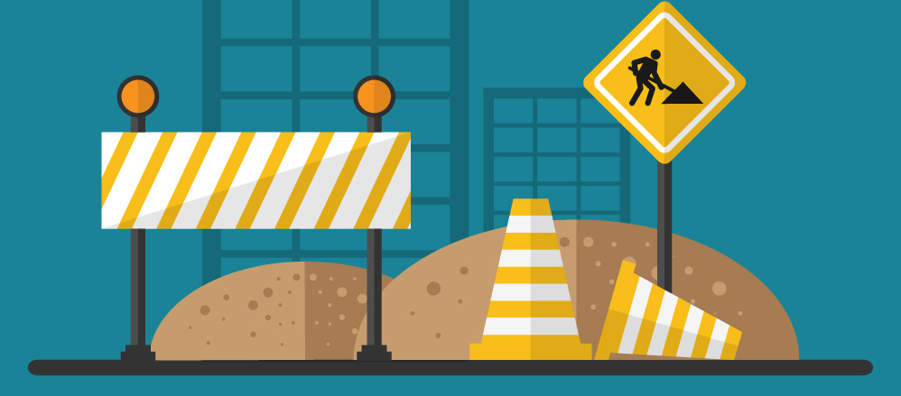 road worker construction signs