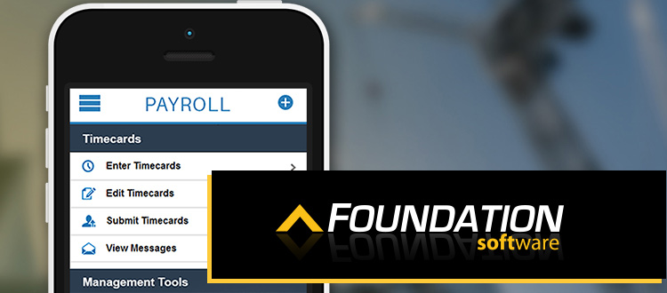 Foundation Mobile Accounting Software for Construction Companies