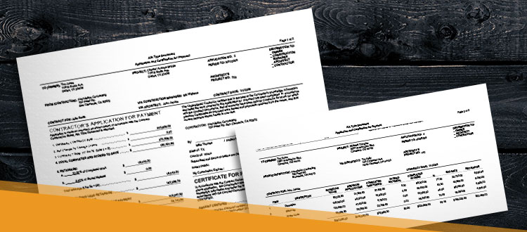 an AIA billing application created with FOUNDATION