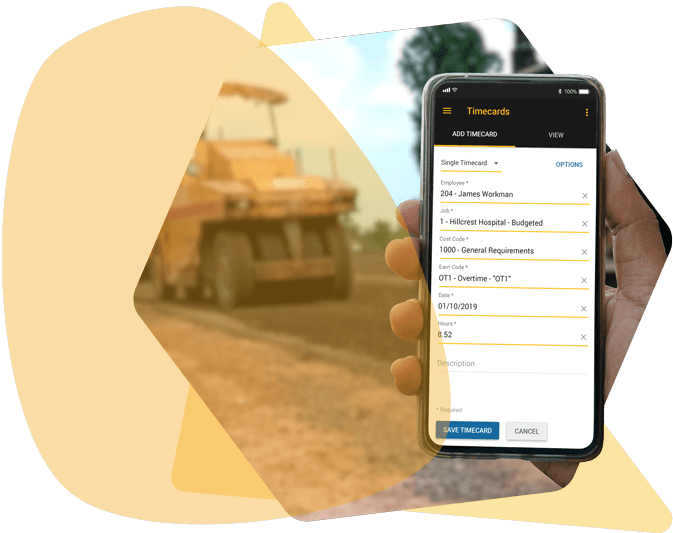 Mobile view of Foundation's Construction Accounting Software